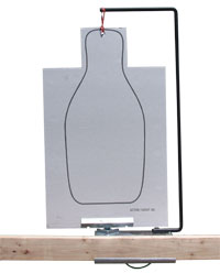 Front View of Steel 90 Portable Target