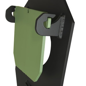 The patent pending target hinge design of the PT IDPA Practice Torso.