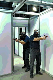 Two Shooters Training in FlexTract Training System
