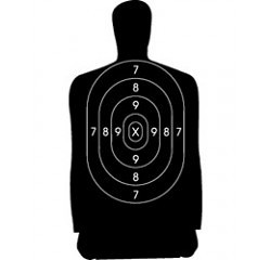 Law Enforcement Cardboart Target