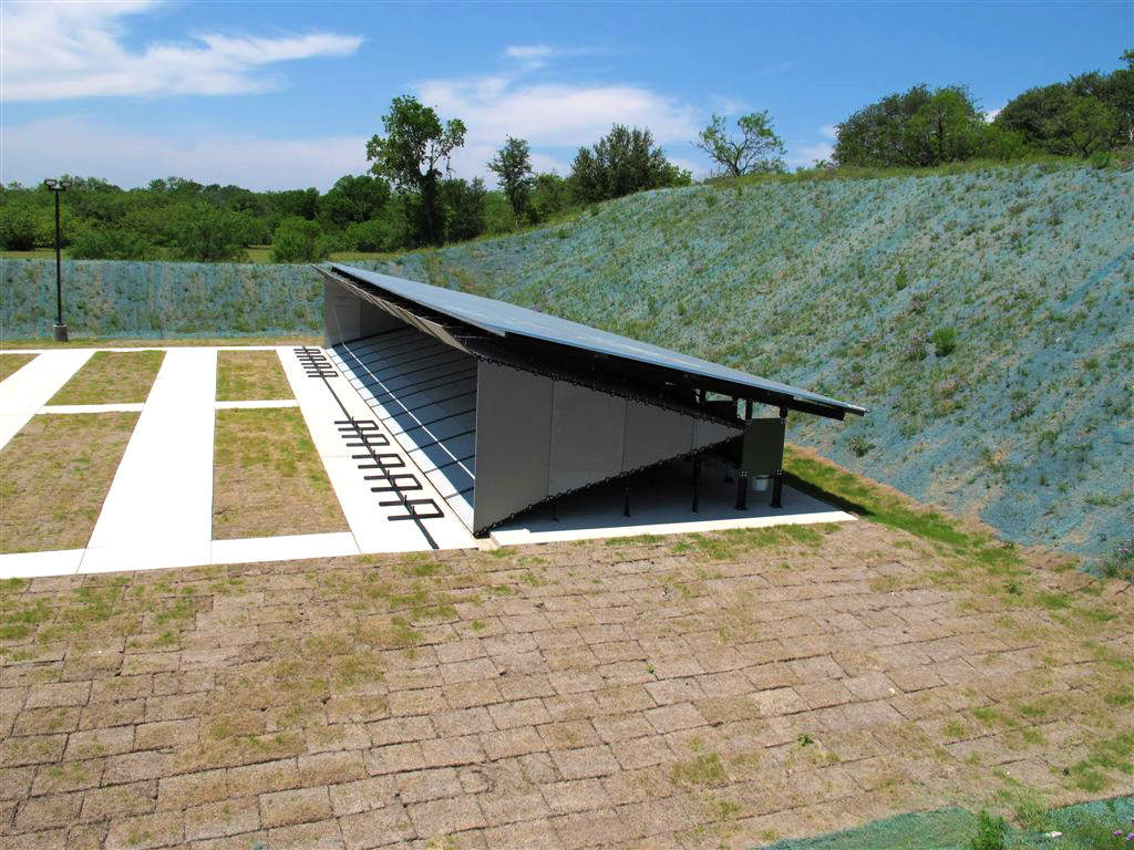 Total containment trap action target for Outdoor shooting range design plans
